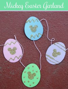 DIY Mickey Easter Garland // Inspired By Dis | Disney craft project
