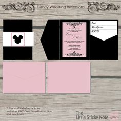 disney wedding invitations can be elegant too   hidden mickey, invitation samples
