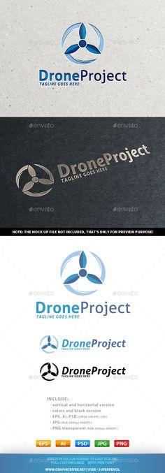 Drone Project Logo: Symbol Logo Design Template created by SuperPencil. Circle Logo Design, Circle Logos, Logo Design Template, Logo Templates, Graphic Design, Aviation Logo, Service Logo, Symbol Logo, Monogram Logo