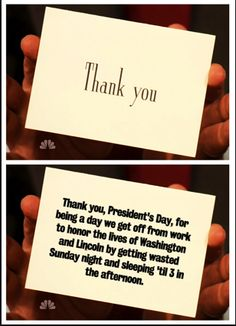 """Some inspiration from Jimmy Fallon's """"Thank You Notes"""""""