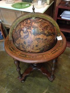 Antique barley twist liquor cocktail cabinet old world map globe bar another little something for a sitting room gumiabroncs Choice Image
