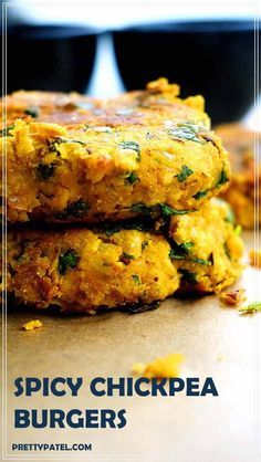 masala chickpea burger, burger recipe, indian burger, healthy recipe, vegan, gluten free, low carb, vegetarian l http://www.prettypatel.com