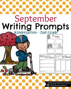 September Writing Prompts are here just in time for fall. Get your Narrative, Informative and Opinion Organizers and Draft pages today.