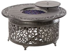 Alfresco Home Bellagio Cast Aluminum 48 Round Propane Gas Fire Pit Table | 55-1306