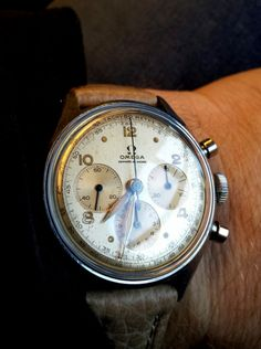 Vintage OMEGA Calibre 321 French Market Chronograph In Stainless Steel Circa 1940s