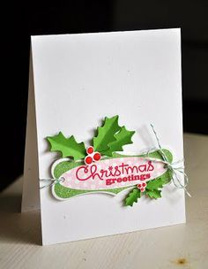 Christmas card by Maile Belles for Papertrey Ink. #Christmas #cards #paper_crafting