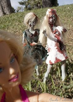 Barbie Zombies. More intelligent than 'normal' Barbie and Ken.