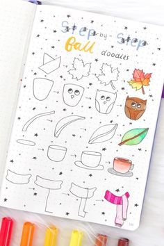 Best bullet journal doodles for fall & halloween Starting your fall theme and need some deocration ideas? Check out these Fall and Halloween step by step bullet journal doodle tutorials for inspiration! Easy Doodles Drawings, Simple Doodles, Doodle Pages, Doodle Art, Bullet Journal Ideas Pages, Bullet Journal Inspiration, Halloween Doodle, Fall Halloween, Autumn Doodles