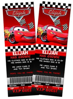 Disney Cars Invitations Template WQMPg8x8 Birthday Invitation Party
