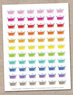 Meal Planning Dinner Planner Stickers Instant Download DIY Printable PDF