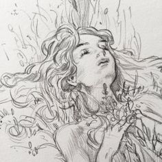 Leslie Hung — I realized I haven't posted one of these sketch. Art Drawings Sketches, Cool Drawings, Pencil Drawings, Pretty Art, Cute Art, Creation Art, Arte Sketchbook, Wow Art, Sketchbook Inspiration
