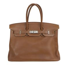 Check out our beautiful Hermes Birkin 35 featured in Gold Togo leather!  #baghunter
