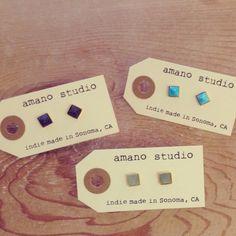 Tiny stud earrings | Amano Studio