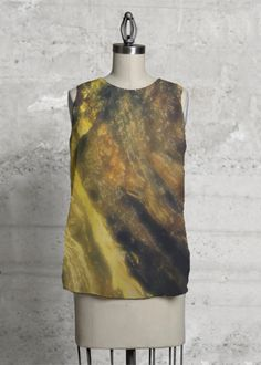 Gold Modern abstract top blouse