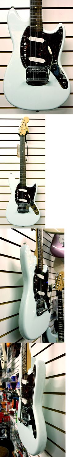 musical instruments: Fender Squier Vintage Modified Mustang Electric Guitar Sonic Blue, New BUY IT NOW ONLY: $299.99