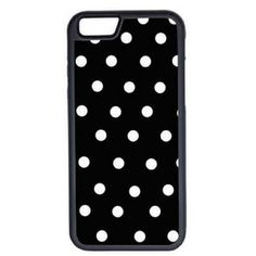 CellPowerCasesTM Black and White Polka Dots iPhone 6 (4.7) V1 Black Case