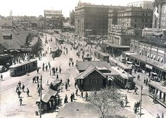 View of Circular Quay showing trams in operation Dated: c. Aboriginal History, Visit Sydney, Sydney City, Largest Countries, Historical Images, History Photos, Modern History, Sydney Australia, Old Photos