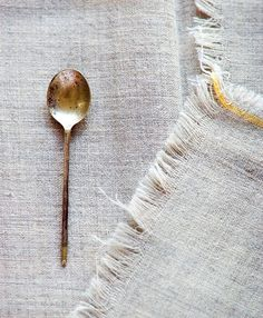 vintage gold spoon