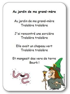 Children's song for kindergarten, cycle on the theme of Halloween and witches. Children's song Th Rhymes For Kindergarten, Summer Preschool Activities, French Poems, Bricolage Halloween, Halloween Songs, Teaching French, Cycle 2, Learn French, Early Learning