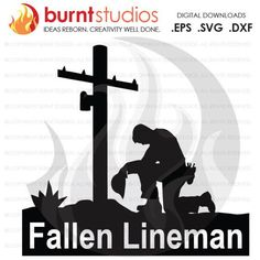 Fallen Power Lineman Tribute Power Linemen Power by BurntStudios