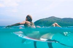 Alana wave hunting in her Mirage Bikini
