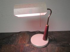 vintage Desk lamp, table light, bedroom lite, pull chain light, mid century lamp by mauryscollectibles on Etsy
