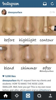 How to make your nose appear smaller