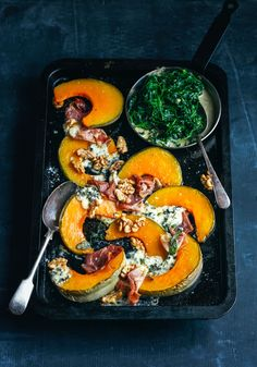 honey roast pumpkin with prosciutto, sage, blue cheese & walnuts – Stuck in the kitchen