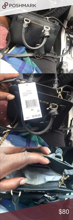 Micheal kors cross body Brand new . Never worn . Cute little black leather cross body bag ,I have way to many black purses so trying to rid somethings. Retailed for 178 ! My Price is firm! KORS Michael Kors Bags Crossbody Bags