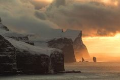 Faroe Islands on fire Photo by Alessio Mesiano -- National Geographic Your Shot