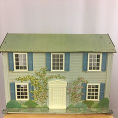 Vtg Today's Kids Metal Doll House Two Story Rosewood Manor #810 1980s USA Made #TodaysKids