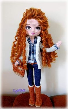 In this article we will share the most beautiful free amigurumi dolls crochet patterns. You can find everything you want about Amigurumi. Crochet Dolls Free Patterns, Crochet Doll Pattern, Doll Clothes Patterns, Amigurumi Patterns, Amigurumi Doll, Crochet Motif, Doll Patterns, Crochet Gratis, Crochet Toys