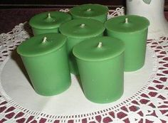 MINT FROST Scent, Homemade Highly Fragranced Soy Votives