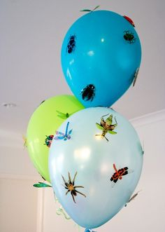 30 pack of Bugs, Beetles, Dragonflies and Spiders for little Boys walls, windows and parties. $28.00, via Etsy.