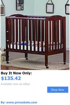 Baby Nursery: Dream On Me 3 In 1 Folding Portable Crib In Cherry