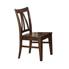 "Found it at Wayfair - Castlewood Side Chair    Castlewood Side Chair  by Riverside Furniture    Qty:    $212.00  $432.00  Save    51%    Earn $6.36 in Rewards what's this?    Free Shipping  Product Details: (SKU #: RVF5104)  This product must be ordered in multiples of 2.        Warm tobacco finish      Solid Walnut hardwood construction      Seat height: 17.5""      Dimensions: 38"" H x 20"" W x 24.5"" D"