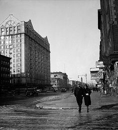 Harlem, New York  1934 7th Ave (Adam Clayton Powell Jr. Blvd) Left side: Hotel Theresa or The Theresa Hotel