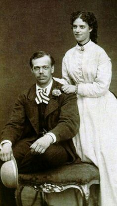 The future Tsar of Russia (1845-1894) Alexander III (in 1881) and his spouse Marie Feodorovna (1847-1928) - 1868