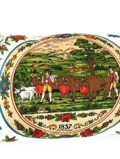 Vintage Dutch Farm Pillow Cover by VintageCommon on Etsy