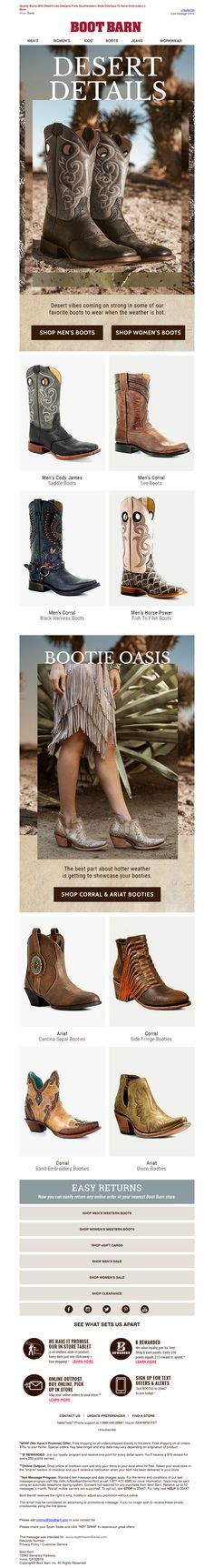 bootbarn5 Email Design Inspiration, Email Newsletters