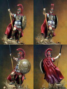 """Греко-македонский фалангит (200 - 168 B.C.).  Масштаб - 75мм """"СМОЛА """"Kit"""", неокрашенная миниатюра, фигура состоит из нескольких частей,"""