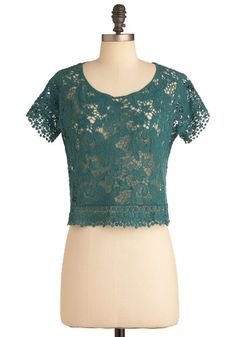 Lace Work It Out Top, #ModCloth
