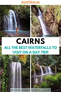 Looking for the best Cairns waterfalls to visit? This list of the BEST waterfalls near Cairns will help you plan the perfect Cairns day trip. Brisbane, Melbourne, Sydney, Perth, Cairns Queensland, Cairns Australia, Solo Travel, Travel Oz, Travel Tips