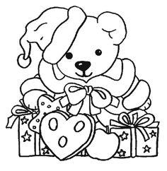 imagenes-dibujos-de-navidad-para-colorear-osito