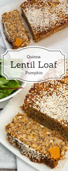 Easy Quinoa Lentil Loaf with Pumpkin - Perfect Vegetarian GF Dish - High Fibre - Low Calorie Recipe.
