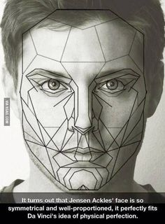 """Have some perfection. """"It turns out that Jensen Ackles' face is so symmetrical and well proportioned, it perfectly fits Da Vinci's idea of physical perfection."""""""