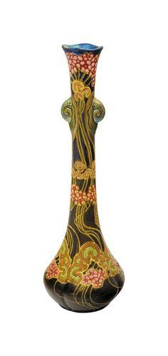 Vase with Snail decor, Zsolnay, c. Pecs Hungary, Art Nouveau, Art Deco, Vases, 10 Picture, Fine Art Auctions, Royal Doulton, Tile Art, Pottery Vase