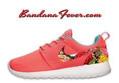 Nike Spring Floral Roshe Run Women's Hyper by BandanaFeverDesigns