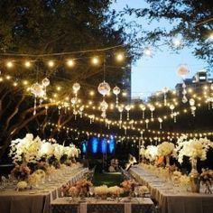Gorgeous!  Beautiful hanging lighting