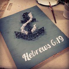 made a DIY Anchor String Art Hebrews 6:19